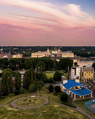 On To Greenwich (JH Images.co.uk) Tags: london drone greenwich navel college greenwichnavelcollege pink sky river thames mavic sunset