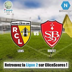 Lens vs. Brest (ClicnScores) Tags: lens brest ligue2 football france fff clicnscores