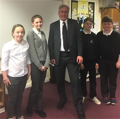 With P7 pupils from St Gabriels PS