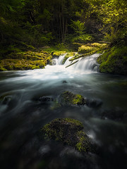A-stop-on-the-way (rafaberlanga) Tags: verde olympus mzuiko landscape forest water nature river rock outdoor rocks natural green stone waterfall falls long exposure stream flowing rapids creek cascades waterflow veil flow