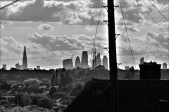 London (stellagrimsdale) Tags: london skyline sky clouds blackandwhite contrast shard