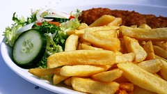 DSC04396-03-Lunch At Yarmouth Yesterday (suzyhazelwood) Tags: fishchips fish chips food salad seaside uk yarmouth creativecommons sony a6000 lunch eating out summer fried