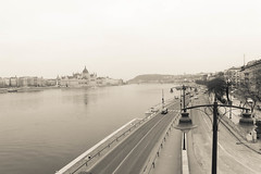 Budapest (rubbofrancesca) Tags: budapest danubio city cityscape river parliament lights crema lightroom cinema effects white citystreets winter 2015