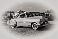 When We Used to Go to the Drive In Show (A Anderson Photography, over 1.9 million views) Tags: classic canon mono twotoned chevy chevydeluxe whitesidewalls fenderskirts chrome