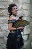L1005236 (f22photographie) Tags: steampunk lincoln steampunklincoln2017 costume people weekendattheasylum dress female fashion fancydress glamour outside fan leicase summicrons100mm