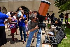 Eclipse watching at Xavier University of Louisiana Photo by Irving Johnson III (XULA Photographer) Tags: partial eclipse xavieruniversityoflouisiana physics