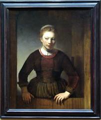 Young Woman at an Open Half Door - Workshop of Rembrandt Harmensz. van Rijn (alplatt) Tags: artinstitute chicago artinstituteofchicago chicagoartinstitute art institute framed museum