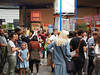 People queueing at POSTCITY (Ars Electronica) Tags: 2017 ai arselectronica arselectronica2017 arselectronicafestival arselectronicafestival2017 art artificialintelligence dasandereich future linz mediaart postcity science society technology upperaustria crowd