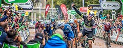 Winning (Andy J Newman) Tags: 2017 boassonhagen edvaldboassonhagen sports britishcycling cardiff colorefex cycling d500 hagen nikon stage8 tour tourofbritain window winner wales unitedkingdom gb
