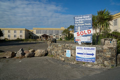 Opportunism (baconisavegetable) Tags: rosslare ireland hotel sold empty derelict sign