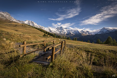 Bridge to Grand Combin (glank27) Tags: champillon aosta valle daosta karl glanville mountains gran combin canon eos 5d mk iv ef 1635mm f4l is usm landscape italy alps bridge sky scenary