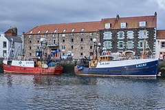 Eyemouth Harbour (scottprice16) Tags: scotland eyemouth harbour boats trawlers fish fishing industry leith registration quayside catch landing life work hard northsea borders eastcoast colour red blue lh147 crystalstream lh163 brightrig