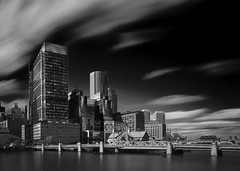 Boston Waterfront (Oculus animi index) Tags: boston ma massachusetts waterfront rowes wharf time exposure black white fuji xpro2
