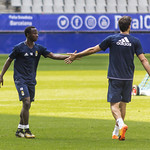 Yeboah y Toche saludandose thumbnail