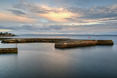 Bangor 1-08-2018 (John Holmes (DAJH51)) Tags: bangor belfastlough codown concrete harbour longexposure old oldharbour pier sea stone sunrise