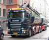 Scania R620 v8 XN93434 twin tipperloaded with hot tarmac fills hole (sms88aec) Tags: scania r620 v8 xn93434 twin tipperloaded with hot tarmac fills hole