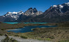 Magnificent Andes at Torres del Paine National Park, Patagonia, Chile (Peraion) Tags: patagonia chile torresdelpaine nationalpark lakes colours andes rocks peaks vegetation grass sky blue