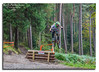 high jump (R0BERT ATKINSON) Tags: hamsterleyforest mountainbiking downhillmountainbiking trees jump robatkinsonphotography nikond5100 durham northeastengland