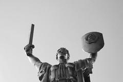 Motherland (Hoppipolga) Tags: kyiv kiev ukraine ukrainian bw bianconero blackandwhite monument canon travel easterneurope europe