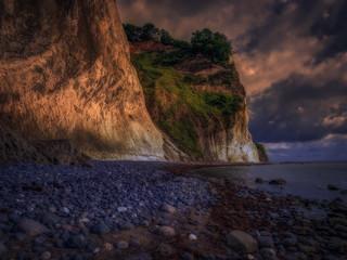 The cliffs off Moen