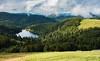 Lac de la Lande (Vosges, France) (AT Photographie) Tags: lac lande labresse paysage landscape lake vosges pistes ski nuages nuageux cloud automne autumn nikon reflets
