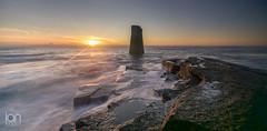 Marker (ianbrodie1) Tags: sunrise cloudsstormssunsetssunrises sea seascape leefilters coast coastline north tyneside marker ocean longexposure rocks water waves nikon northeast sun cloud