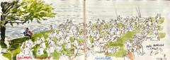 170902 baignade interdite (Vincent Desplanche) Tags: baignadeinterdite aigueleze tarn music musique croquis sketch sketchbook seawhiteofbrighton seawhitesketchbook neocolor neocolorii carandache assotriplea