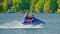 Taking the Dog out for a run !! (Bob's Digital Eye) Tags: 2017 action bassethound bobsdigitaleye canon canonefs55250mmf456isstm dog flicker flickr jetski lake t3i water
