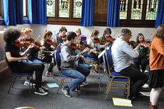 Avison Ensemble performance workshop, Queen Elizabeth Sixth Form College, Darlington, Wednesday 20th September 2017 (Avison Ensemble) Tags: charles avison ensemble young musicians students pupils schoolchildren sixth form college darlington northern england english classical composers music baroque bach garth concerto vivaldi professional mentors mentoring rehearse rehearsing rehearsal workshop players playing instruments string violin violinist viola cello cellist harpsichord flute flautist orchestra orchestral band keyboard children child youth kid kids boy boys girl girls outreach inclusion inclusive teacher teachers teaching teach learning learn tries trying education educational concert performing soloist interprets interpretation