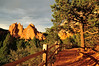Path to the Garden of the Gods (J-Fish) Tags: gardenofthegods northgatewayrock kissingcamels path redrock fence sunset nationalnaturallandmark coloradosprings colorado d300s 1685mmvr 1685mmf3556gvr