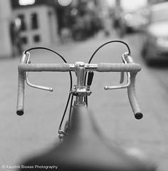 Bikes of Toronto - The View (KaushikBiswas28) Tags: bikesoftoronto 120mm monochrome panchromo bw yongest filmphotography ilford downtowncamera iluvtoronto bikes stilllife fatalframes framedtoronto imagesoftoronto street streetphotography mediumformat urban streetvision analog hassey bokeh cycle 6ix ishootfilm