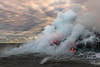 Sizzle (Bob Bowman Photography) Tags: lava hawaii kalapana volcano ocean steam clouds 61g seascape pacific