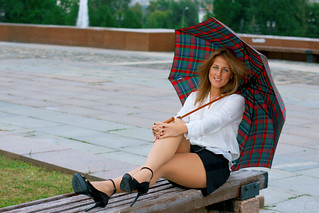 Anya Bo, summer dull day in Moscow