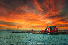 Leave The Light On (Philippe Sainte-Laudy) Tags: philippesaintelaudy texture textured norway sunset