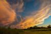 Backside of Thunderstorm (thefisch1) Tags: sunset kansas storm backside pasture sky cloud pink orange thunderhead nimbus backflow thunder spread out horizon