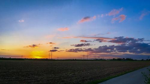 Sonnenuntergang über Schwetzingen