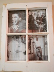 Old photos on display showing the history of: (Jeannette Greaves) Tags: ninette manitoba sanatorium fundraiser history buildings