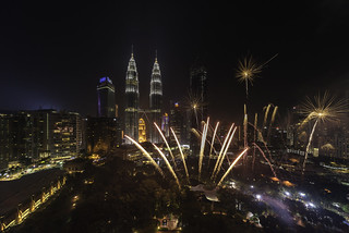 Malaysia's 60th Independence Day Fireworks Display