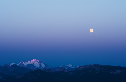 Moon Over Mont Blanc