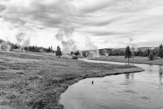 River on Fire - BW