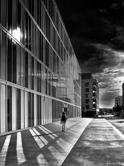 Lyon Vaise - Un Dimanche après-midi, comme un désert. (Gilles Daligand) Tags: lyon rhone vaise rue street soleil sun solitude vide desert dramatic noiretblanc bw monochrome architecture olympus omdem5