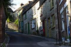 Greenhill, Wirksworth (Blue sky and countryside) Tags: greenhill wirksworth derbyshire england cottages steep attractive energetic pretty doors limestone colourful pentax