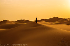 IN SEARCH OF A NEW WORLD (KASHIF QAISER) Tags: desert sky sunset people dunes nature landscape sanddunes outdoors color