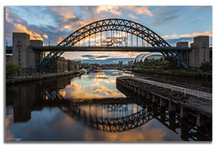 Daybreak (peterwilson71) Tags: sunrise daybreak bridge reflections quay clouds sky city newcastle river boats