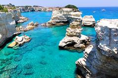Torre Sant'Andrea (Valdy71) Tags: beach spiaggia mare sea faraglioni puglia apulien salento color valdy nikon blue ngc seascape