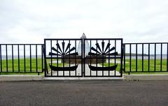 Gate (Jaedde & Sis) Tags: føroyar sumba suðuroy gate memorial fence challengeyouwinner unanimous thechallengefactory