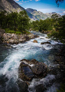 Stigfossen Stream, Trollstigen, Norway