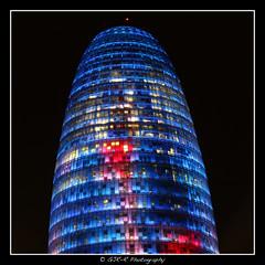 2015.02.13 Barcelona by night 29 (garyroustan) Tags: torre agbar barcelona barcelone spain espana espane mer méditerranée mediterranean nuit night light color noche