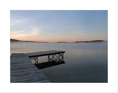 Foggy morning (Maryse Tremblay) Tags: fog morning landscape canada water lake quebec explore