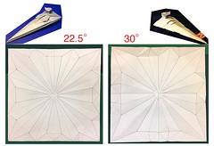 Comparison of Two Stardestroyer bases (Matayado-titi) Tags: sugamata spaceship starship starwars space stardestroyer shusugamata origami matayado